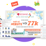 Khuyến mãi thiết kế website 77k