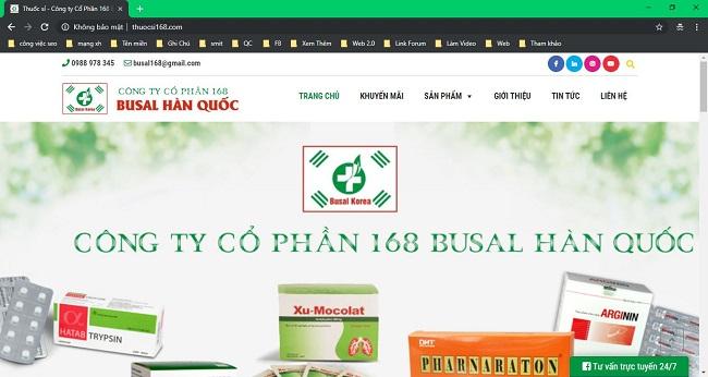 Thiết kế website phòng khám, trung tâm y tế