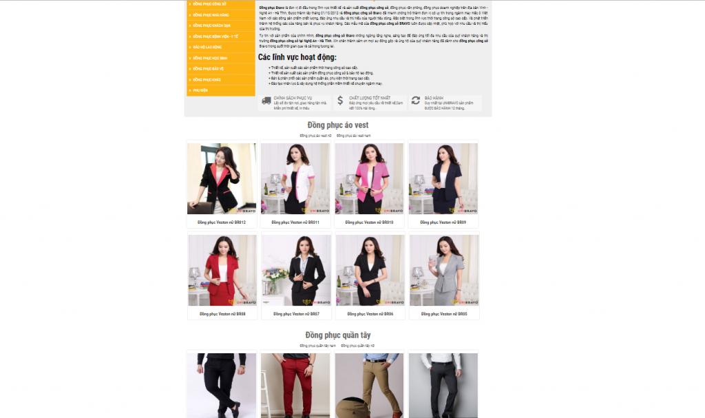 Thiết kế website thời trang tại Vinh