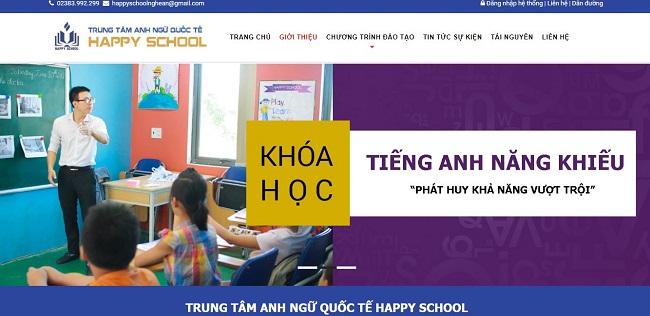 thiết kế website giáo dục trường học tại vinh