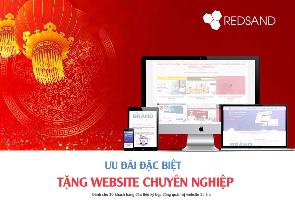 Thiết kế website 0 đồng - Ưu đãi chỉ có tại Redsand