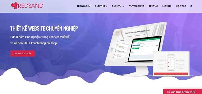 Thiết kế website chuyên nghiệp tại Vinh - Đến ngay Redsand