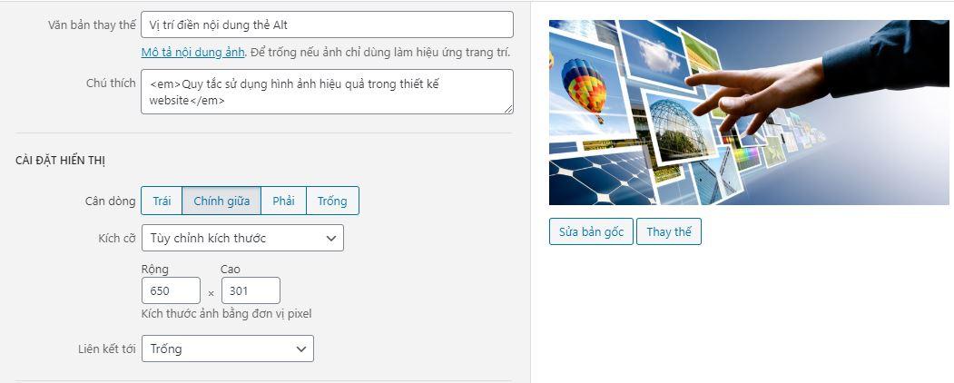 Quy tắc sử dụng hình ảnh hiệu quả trong thiết kế website