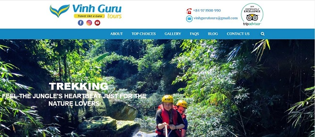 Đơn vị thiết kế website du lịch tại Vinh